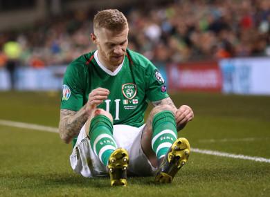 Irish international James McClean.