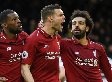 James Milner and his Liverpool team-mates face Newcastle tomorrow night.