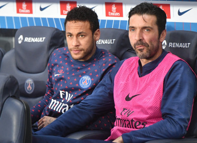 Buffon has featured 24 times for PSG this season.
