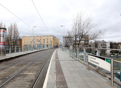 Charlemont Luas stop, where the Metrolink will now terminate following updated plans to the project