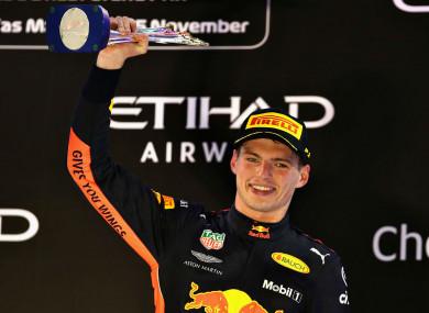 Red Bull driver Max Verstappen.