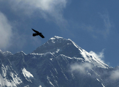 Mount Everest as seen from Namche Bajar, Solukhumbu district, Nepal, Monday