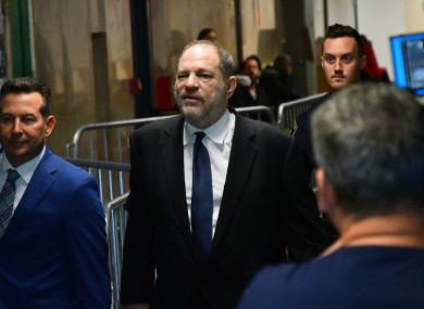 Harvey Weinstein at court in April