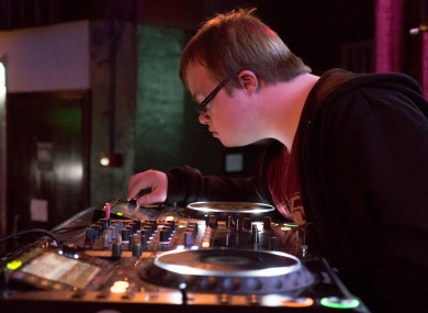 James O'Connell working the decks on a Bounce club night.