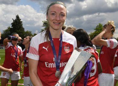 Re-signed: Arsenal and Ireland defender Louise Quinn.