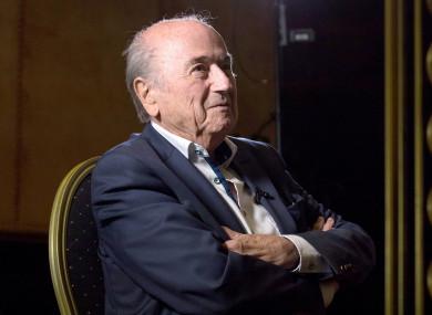 File photo of Sepp Blatter.