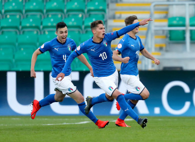 Sebastiano Esposito was on target for Italy against Austria.