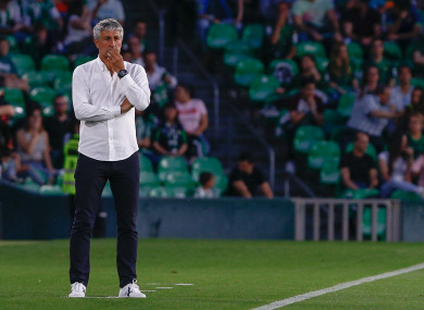 A last-day win at Madrid was not enough to save Quique Setien's job.