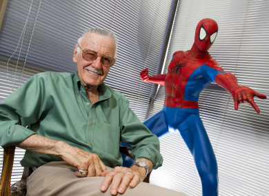 Marvel Comics legend Stan Lee, who died last year aged 95