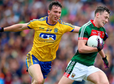 Roscommon's Tadgh O'Rourke and Mayo's Diarmuid O'Connor.