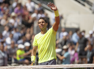 Nadal cruised through this afternoon.