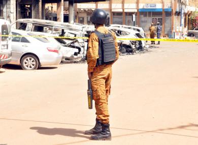 File photo of police in Ouagadougou, Burkina Faso (January 2016).