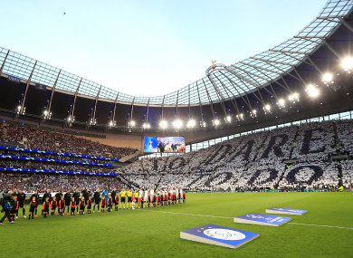 Spurs and Ajax players before their Champions League semi-final first leg.