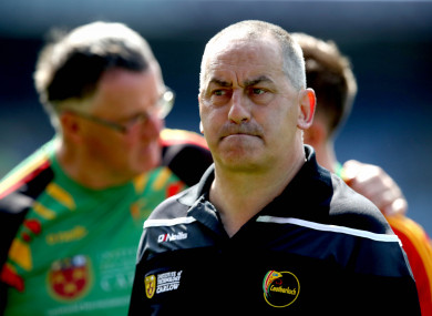 Carlow manager Turlough O'Brien.
