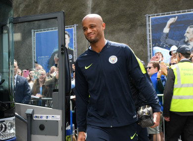 Former Manchester City captain Vincent Kompany.