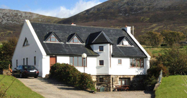 Steps from the beach with a sweeping view over Clew Bay - and heaps of room too
