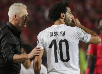 The Liverpool star was on target on Sunday for Egypt.