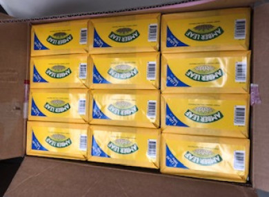 Photo of tobacco seized during the operations.