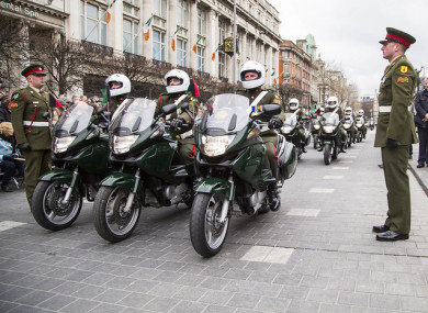 File photo - Defence Forces motorbikes