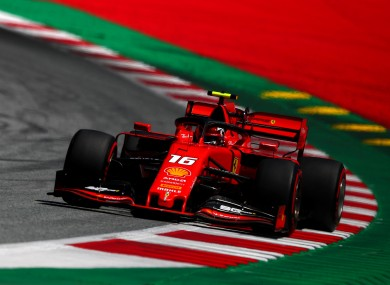 Charles Leclerc on his way to pole position.
