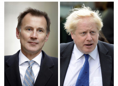 Jeremy Hunt (left) remains in the race against Boris Johnson to be next PM.