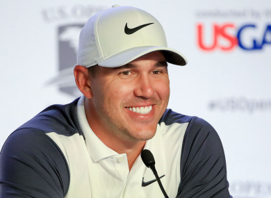 Brooks Koepka at the U.S. Open on Tuesday