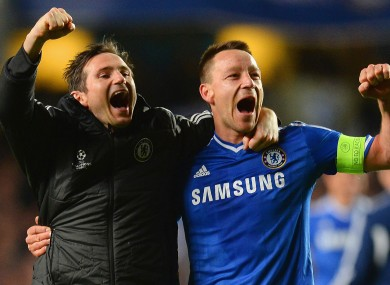 Frank Lampard (left) and John Terry during their time at Chelsea.