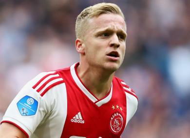 Ajax midfielder Donny van de Beek.