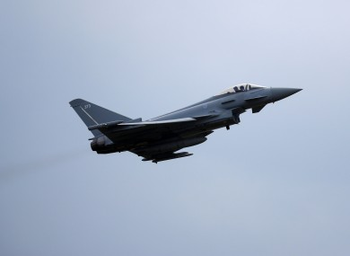 File Image, RAF Typhoon jet
