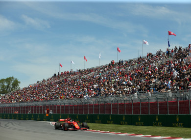 Vettel: fastest by two-tenths of a second.