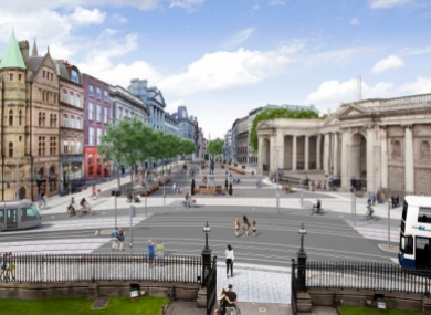 The proposed College Green plaza was rejected by An Bord Pleanála last year.