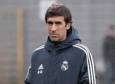 Raul is progressing up the coaching ranks at Madrid.