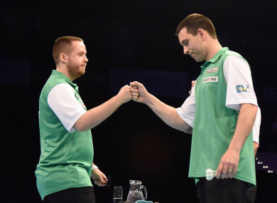 Ireland duo Steve Lennon and William O'Connor were superb at the World Cup of Darts in Hamburg.