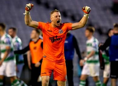 Bohemians goalkeeper, James Talbot.