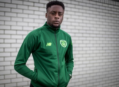 Jonathan Afolabi pictured at an Ireland U19 Media Event.