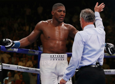 The moment Anthony Joshua lost his world titles