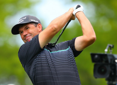 Missed the cut: Padraig Harrington.
