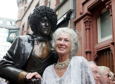 Philomena Lynott at the unveiling of her son's statue in 2005.