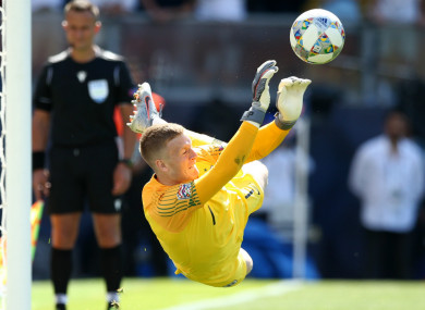 England goalkeeper Jordan Pickford.