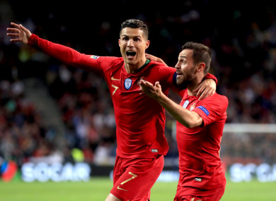 Ronaldo proved to be the match-winner in Porto.