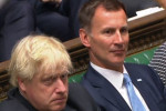 Johnson and Hunt pictured in the House of Commons last year.