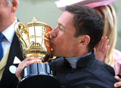 Dettori celebrates his Gold Cup success at Royal Ascot.