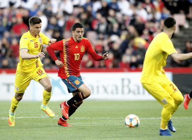 Fornals in action for Spain against Romania earlier this year.