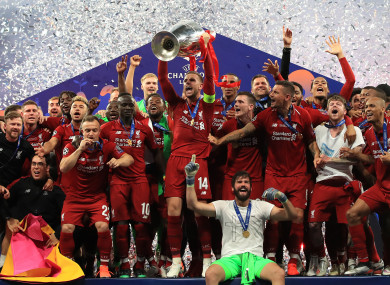 4eabf1769 Liverpool beat Tottenham to triumph in Champions League final · The42