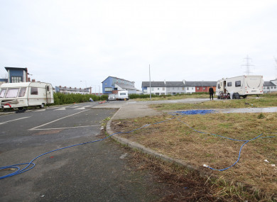 File image - Pictured is the former halting site in Balgaddy, Clondalkin, Dublin