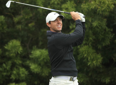 Ready to go: Rory McIlroy.