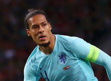 Netherlands and Liverpool defender Virgil van Dijk