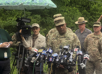 Supt Lt Gen Darryl Williams speaking to reporters following the incident.