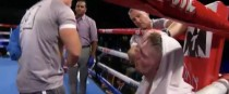 Jason Quigley's corner stop the fight after nine rounds.