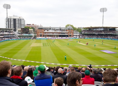 Ireland in action at Lord's during last year's One-Day International.